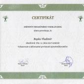 Certifikát IFV